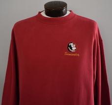 Vtg 90s Florida State University Sweatshirt FSU Seminoles Embroidered Ju... - $34.99