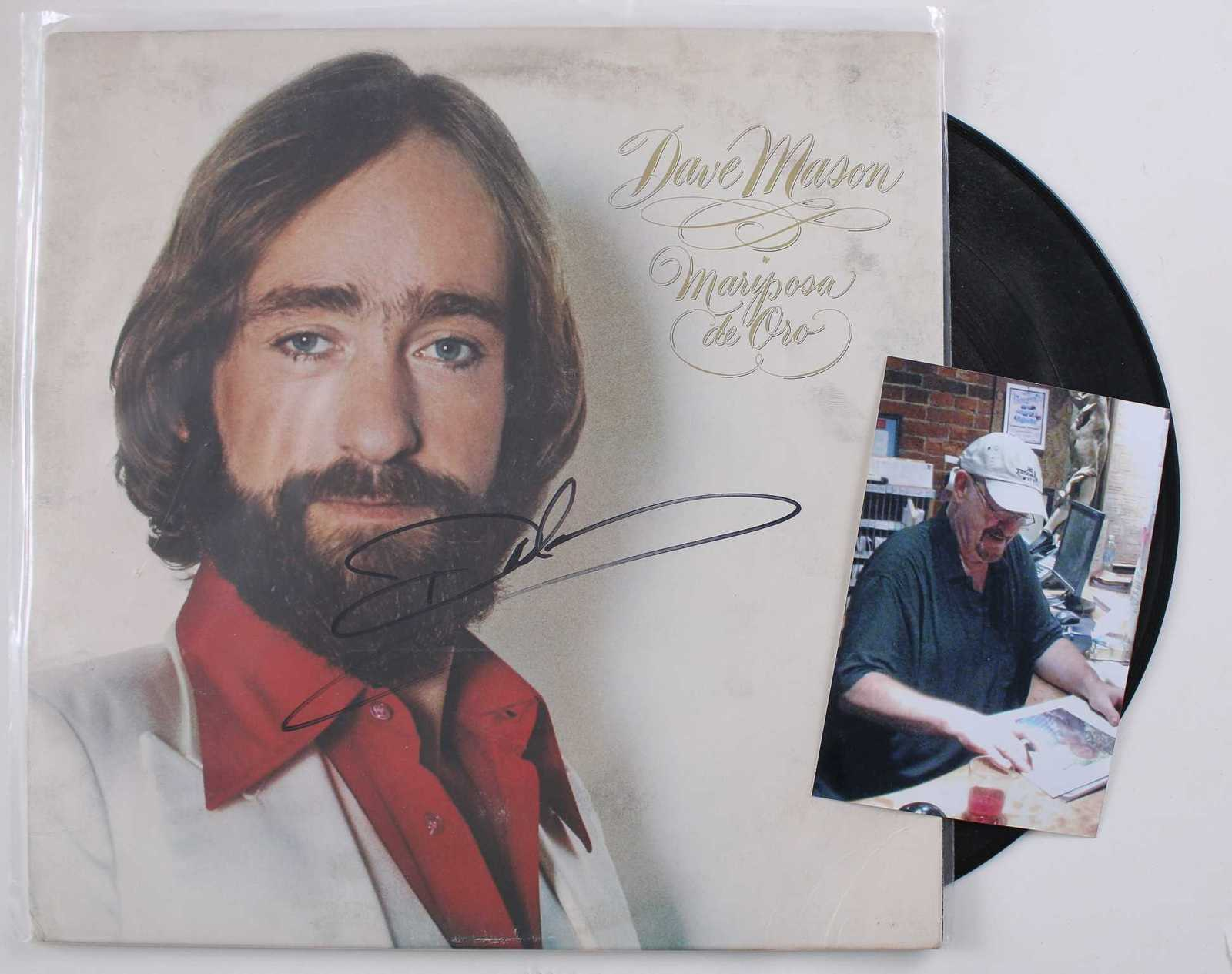 Primary image for Dave Mason Signed Autographed Record Album w/ Proof Photo