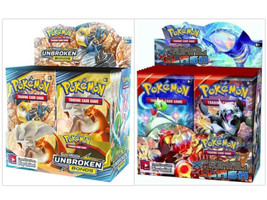 Pokemon TCG Sun & Moon Unbroken Bonds + Primal Clash Booster Box Bundle - $219.99