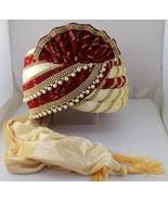 ROYAL-WEDDING-SAFA-INDIA-GROOM-HANDMADE-MEN-PAGRI-PARTY-MEDIUM-HAT-SF-2366 - $52.47