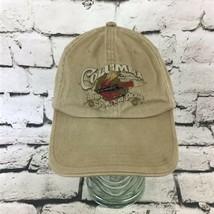 Columbia Sportswear Mens OS Hat Fishing Sporting Tackle Khaki Adjustable Ballcap - $14.84