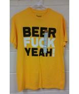 Men's Beer F Yea T-Shirt Size Medium Beer Drinking Shirt Pub Bar - $14.98