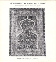Sotheby Illustrated Auction Catalog for Good Oriental Rugs 1974 Prices R... - $12.80