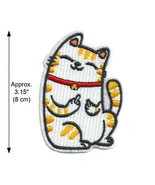 """NAUGHTY FLIPPING OFF CAT IRON ON PATCH 3.15"""" Rude Kitty Middle Finger Ap... - $5.99"""