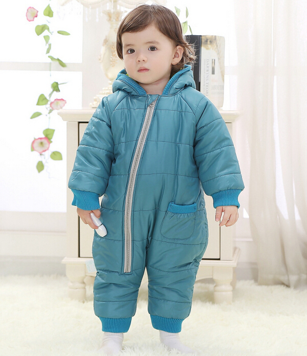 Baby Kid Toddler Boys Girls Winter Padded Onesie Romper Jumpsuit Outfit Snowsuit image 10