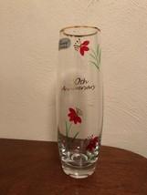 Vintage Fenton Vase 40th Anniversary Hand Painted Bud Vase Flower - $10.00