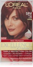 L'Oreal Paris Red Richesse Excellence Creme, Red Violet 5RV - $28.99