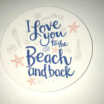 "Melamine Tidbit Appetizer Dessert Plates 6"" Set of 6 Beach House Starfis... - $19.20"