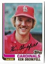 1982 Topps Ken Oberkfell #474 Baseball Card St. Louis Cardinals - $1.97