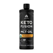 KetoFUSION MCT Oil Turmeric Flavor, MCTs from Coconut, Certified USDA Or... - $32.99
