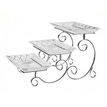 Dessert Platter Serve Tray Rack 3 Tier Dish Platter Party Appetizer Frui... - $774,46 MXN