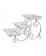 Dessert Platter Serve Tray Rack 3 Tier Dish Platter Party Appetizer Frui... - $47.04