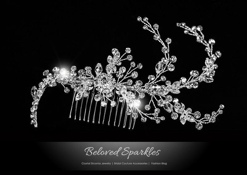 Uster bridal hair comb  vintage art deco head jewelry wedding los angeles new york florida texas