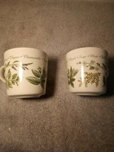 (2)  CORELLE COORDINATES  COFFEE MUGS / CUPS--HERBS / DILL / MINT -FREE ... - $22.68
