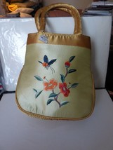 VINTAGE 1960s Lovely Chinese Handbag Silk Embroidered Butterfly Flowers - $65.00