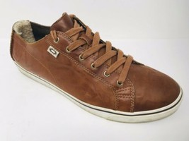 UGG Vanowen 3116 Sz 11 M/44.5 Brown Leather Lace Up Comfort Sneakers Men... - $28.00