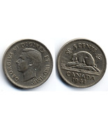 M42 - 1941 Canadian Nickel 5 Cents - King George VI - Canada - £1.49 GBP