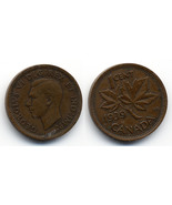 M44 - 1939 Canadian Penny 1 Cent - King George ... - $0.29