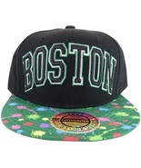 City Hunter Boston Black Paint Spots Men's Adjustable Snapback Baseball Cap - $11.95