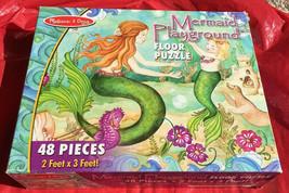 Melissa & Doug Mermaid Playground 48 Piece Floor Puzzle-Complete - $18.49