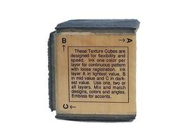 Stampendous-1993 Marble Texture Cube-Rubber Stamp image 5