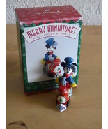 1998 Disney Hallmark Merry Miniatures Mickey's Locomotive  - $8.00