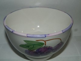 Lovely Smuckers Cereal Bowls Ice Cream Grapes 1999 Ceramic - $14.19