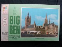 Puzzle Big Ben Belgium Shopping Time Milton Bradley 1000 Piece USA 1988 - $12.99