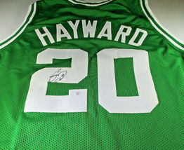 GORDON HAYWARD / BOSTON CELTICS / HAND SIGNED BOSTON CELTICS CUSTOM JERSEY / COA image 1