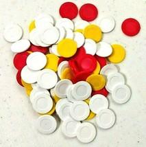 Vintage Lowe Milton Bradley Mah Jongg Chips Red Yellow White Plastic 1978 - $4.99
