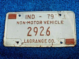Indiana Lagrange County 1979 Non-Motor Vehicle License Plate Tag 2926 - $5.00