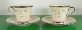 Lenox WINDSONG Cup and Saucer Set (s) LOT OF 2 White Flowers - $43.50