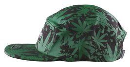 Dissizit Black Green Hawaii Pakalolo Weed Marijuana 5-Panel Strapback Hat Cap NW image 5