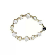 Vintage Faceted Crystal Glass Beaded Bracelet - $17.81
