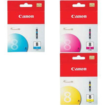 Canon CLI-8 3-Color combo inks with Cyan, Magenta, Yellow Inks new sealed - $33.00