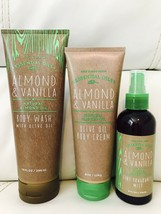 BATH  BODY WORKS Almond & Vanilla With Olive Oil Cream Wash & Fragrance Mist - $39.50