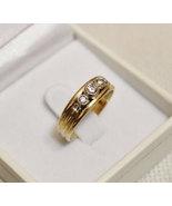 Vintage 18K Gold Diamond Ring, Diamond Engagement Ring - $495.00