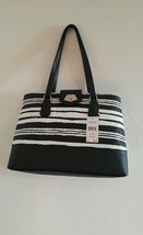 NWT Nine West Rock And Lock  Handbag.  Black And White. - $69.29