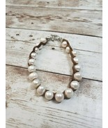 American Eagle Pearl and Tan Woven Bracelet - $12.99