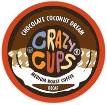 Crazy Cups Decaf Chocolate Coconut Dream Coffee 22 to 88 K cups Pick Any... - $22.99+