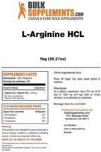 BulkSupplements L-Arginine HCL Powder (1 Kilogram) - $119.23