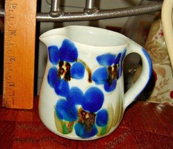VTG FRENCH COUNTRY BLUES BOURTON SKID FLORAL FLOWER POTTERY SMALL PITCHE... - $167.99