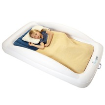Travel Bed For Toddlers Inflatable Safety Bumpers Portable Blow Up Mattr... - ₨7,049.84 INR