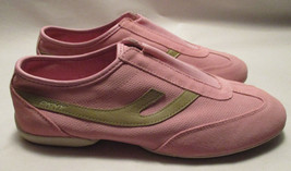 Vintage New DKNY Lex Womens 8 M Pink Suede Leather & Mesh Slip On Sneakers - $34.61