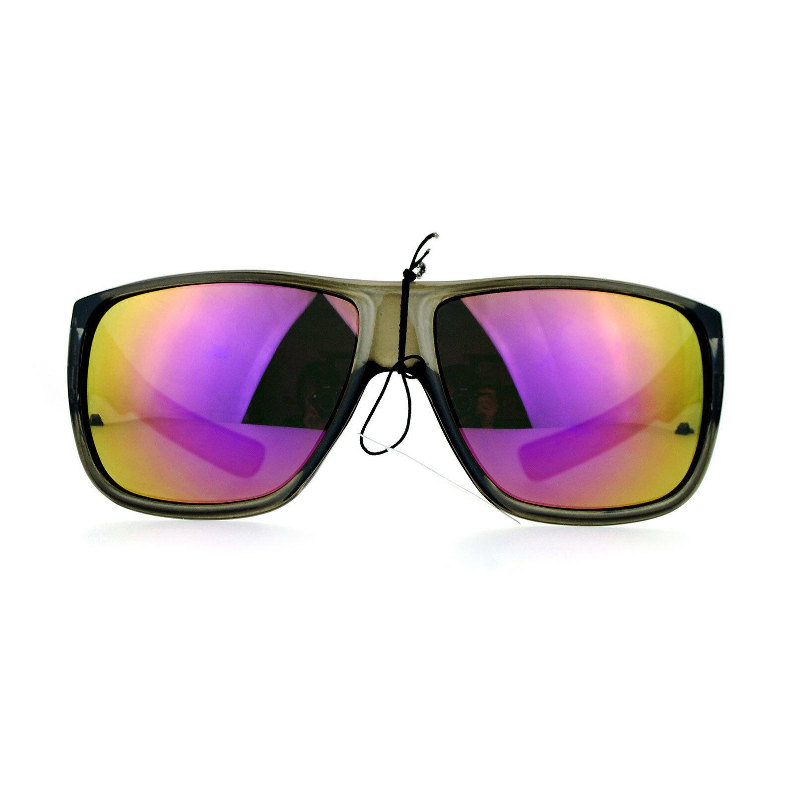 KUSH Sunglasses Slate Gray Square Frame Sports Fashion Mirror Lens