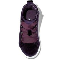 Cat & Jack Toddler Girls Jory Purple Velvet High Top Shoes Sneakers NEW image 3