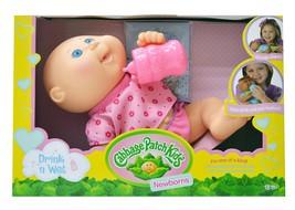 Cabbage Patch Kids Drink N' Wet Newborn Baby Doll - Baby Girl in Purple ... - $35.99