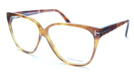 Tom Ford TF5302 053 Eyeglasses Frame Brown Tortoise Acetate Italy Made 5... - $180.37