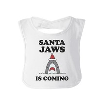 Santa Jaws Is Coming Baby White Bib - $9.99