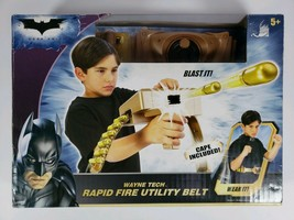 New Mattel The Dark Knight Rapid Fire Utility Belt and Cape Wayne Tech - $25.73
